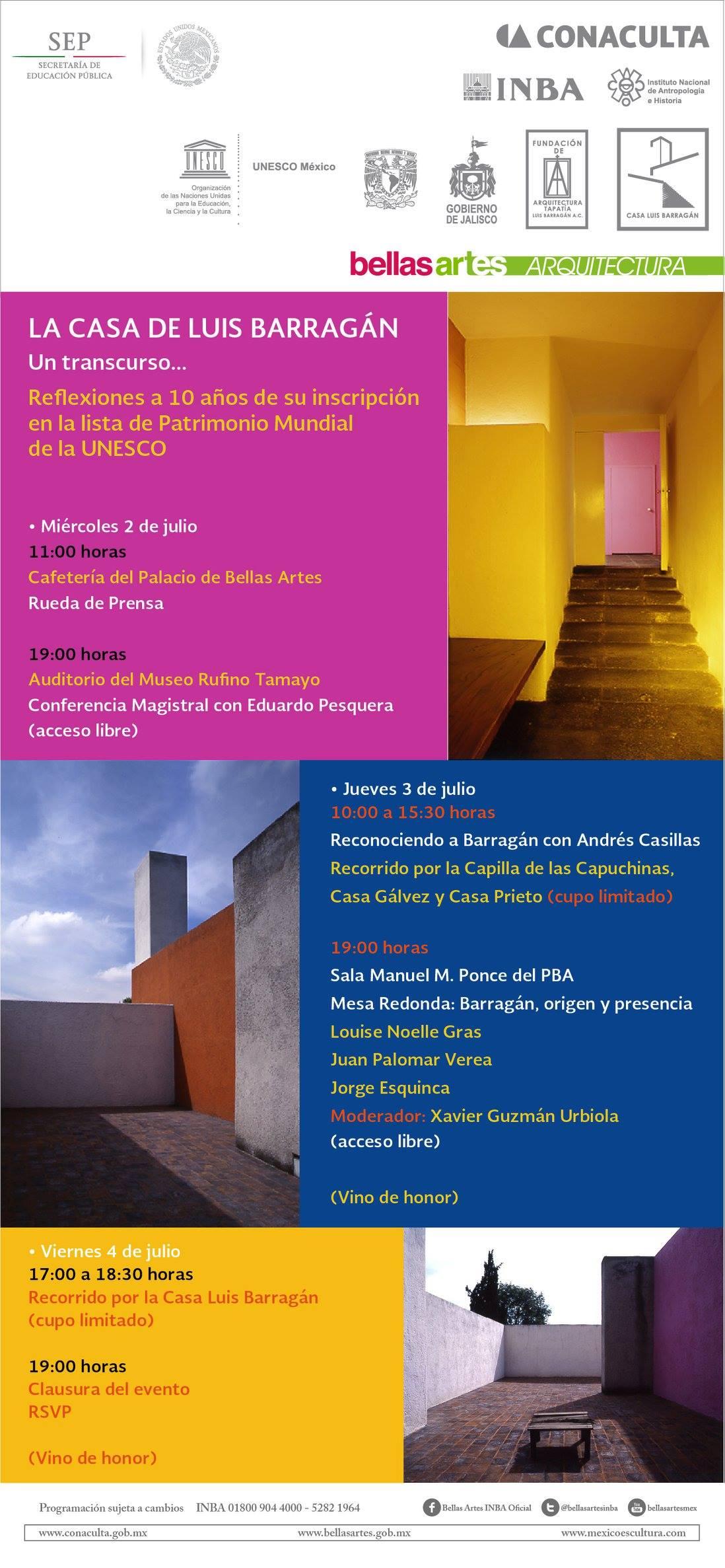 Aniversarios de la  casa de Luis Barragán