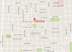 Haz clic para ampliar el mapa esta zona (mapa de Google, 2015)